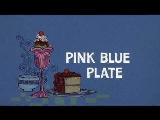 Pink Blue Plate